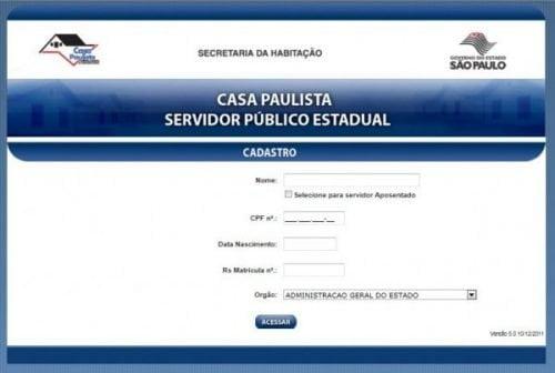 Formulário de Inscrições Casa Paulista