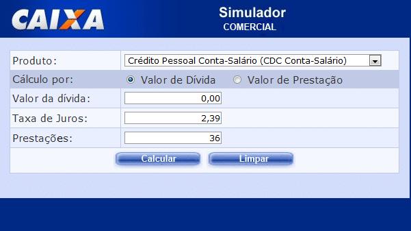 Simulador caixa melhor cr dito simulador de for Simulador hipoteca caixa
