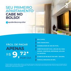 Card 2 - seu primeiro apartamento - créditos de R$ 70 mil a R$ 400 mil