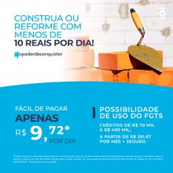 Card 1 - construção ou reforma - créditos de R$ 70 mil a R$ 400 mil
